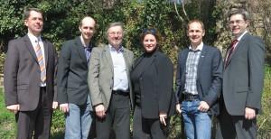 Der Vereinsvorstand (v.l.n.r): Peter Seifter, Christoph Unfried, Hubert Leitner, Romana Thiel, Alexander Mense, Stefan Sabutsch
