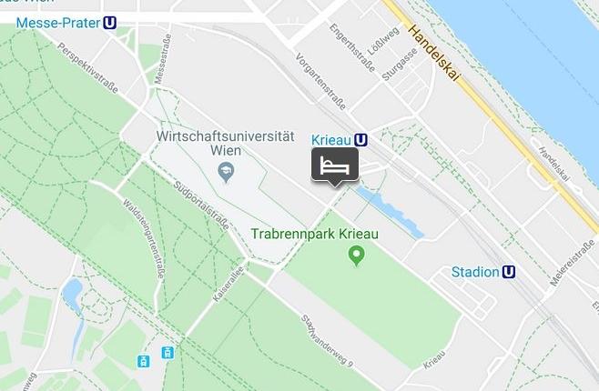 Lageplan Hotel Couryard Messe-Prater