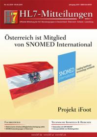 Das Titelblatt von HL7 Mitteilungen 42 2019